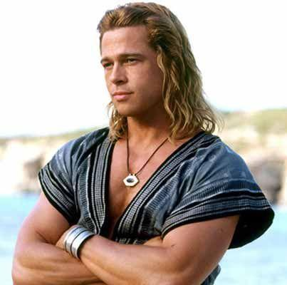 Brad Pitt with blonde long hair for men