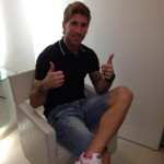 Sergio Ramos, player of Real Madrid, with his new haircut in 2012