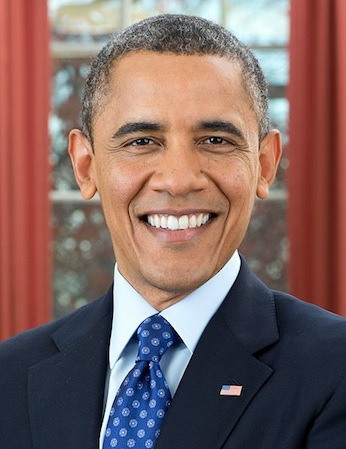 President Barack Obama with his kinky afro hair styled in a Crew Cut haircut