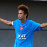 Neymar hair sported in a Mohawk hairstyle for his straightened curly hair