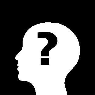 A question marked inside a head for the Men's Hair Blog