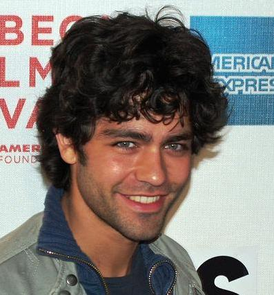 Adrian Grenier showing his good wavy haired mane