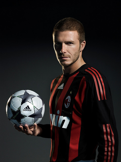David Beckham with a buzz cut hairstyle for men