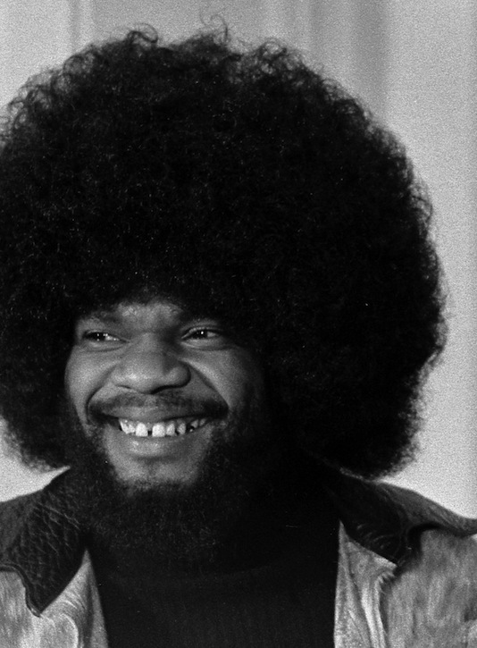 The Afro hairstyle as pictured by a black male