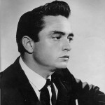 Rockabilly Johnny Cash sporting a cool Pompadour hairstyle for his straight hair