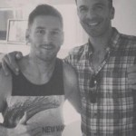 Leo Messi with his barber who gave him a new haircut